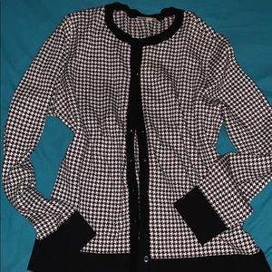 Houndstooth button down cardigan